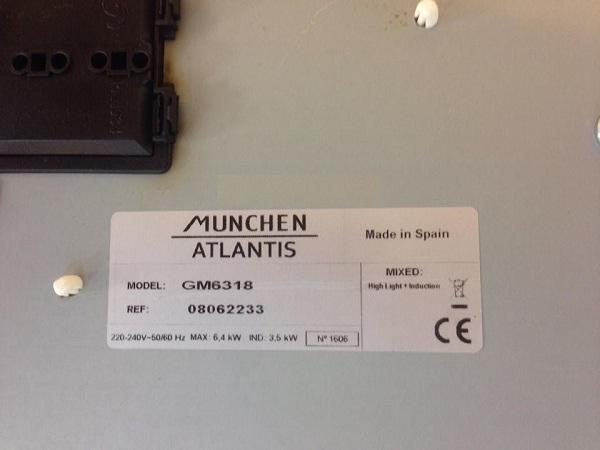 đáy bếp điện từ Munchen GM-6318