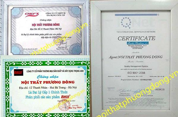giấy chứng nhận đại lý bán bếp từ nhập khẩu châu âu