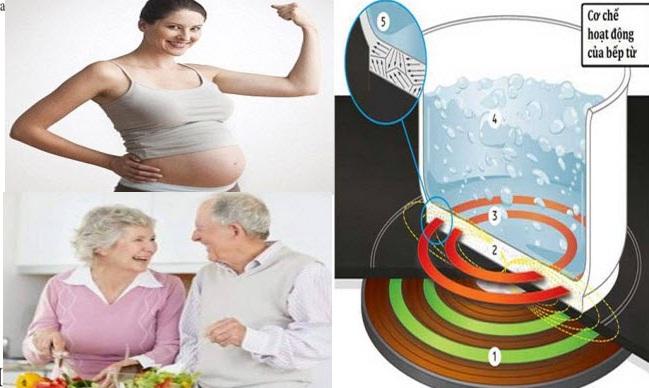phụ nữ mang bầu có nên sử dụng bếp từ không